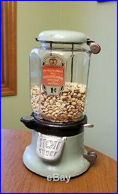Vintage Rare COLUMBUS Model M 1-Cent Peanut or Bulk Machine AS FOUND Original