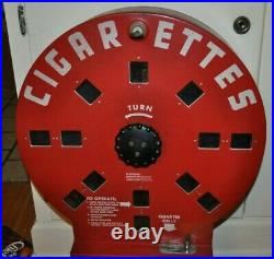 Vintage Rare Dial A Smoke Cigarette Vending Machine With Key Very Nice Condition