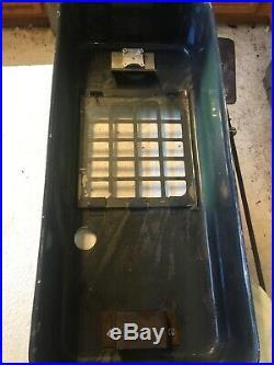 Vintage Rare Green Pulver One Cent Gum Machine Working