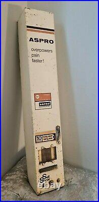Vintage Reclaimed Aspro Wall Toilet Vender Vending Machine Dispenser c1970s