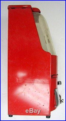 Vintage Red Art Deco Northwestern Model Penny Gumball Vending Machine
