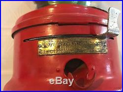 Vintage Red Ford Gumball Machine Glass Dome SN119689