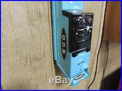 Vintage Restored Blackjack Single Stick Gum Dispenser 1 Cent Beautiful Machine