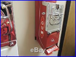 Vintage Restored Clove Pack Gum Dispenser 5 Cent Beautiful Machine L@@K