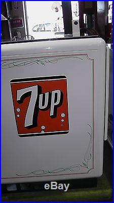 Vintage Restored Coin-Op 7UP Cooler