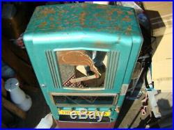 Vintage Retro Art Deco Tobacco Cigarette Pack Vending Coin Machine