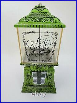 Vintage Retro Green Goodies Candy Nut Dispenser Vending Machine Patent Pending