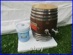 Vintage Richardson 5 Cent Root Beer Refrigerated Wood Barrel Dispenser