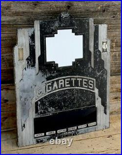 Vintage Rowe 1930's Art Deco Cigarette Vending Machine Door w Mirror
