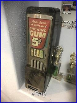 Vintage Rowe Vending Gum machine Bubble Gum Old Collective Juicy Fruit Beech Nut