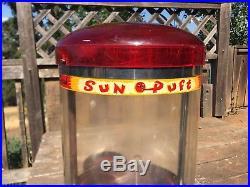 Vintage SUN PUFT Popcorn Vending Machine Countertop