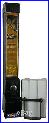 Vintage Savage Bliss Metal Condom Wall Dispenser Vending Machine + Refills 31