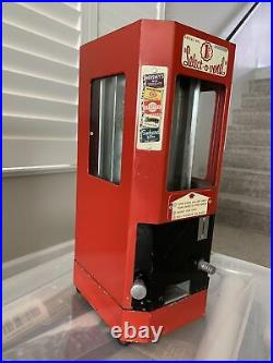 Vintage Select-O-Vend 1c Penny Coin Operated Candy Chocolate Vending Machine