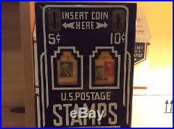 Vintage Shipman MFG. Co. U. S. Postage Stamps Vending Machine with Original Key