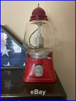 Vintage Silver King 5 Cent Electric Hot Nut / Candy Dispenser Machine Very Nice