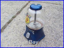 Vintage Silver King 5 cent Gumball Machine CandyPeanut Vending Machine