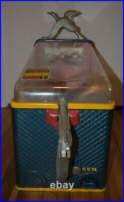 Vintage Silver King NATIONAL DUCK HUNTER BALL GUM VENDOR Arcade COIN OP MACHINE