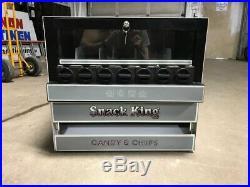 Vintage Snack-King Tabletop Snack Vending Machine Quarters Manual Operation