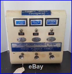Vintage Spray Cologne Perfume Dispenser Vending Machine Chanel #5 Arpege