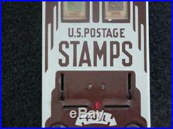 Vintage Stamp Machine with Porcelain Front Complete Works 1940s-1950s Stamps