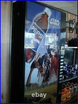 Vintage Star Wars Pepsi Vending Machine Working With Keys