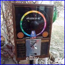 Vintage Starscroll Horoscope Vending Machine with 2 Boxes of Scrolls & Key Neat