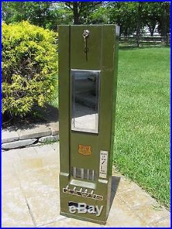 Vintage Stewart Mcguire Dugrenier 1 Cent Vending Machine, Chiclets Adams Baker's