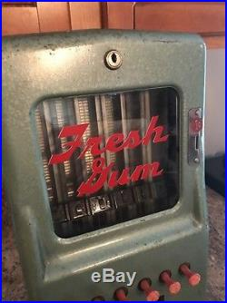 Vintage Stoner Fresh Gum Coin Operated Vending Machine! Penny Operated Rare