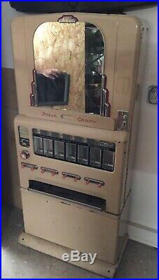 Vintage Stoner Pull Deco Style 5&10 Cent Candy Vending Machine
