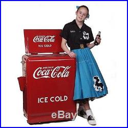 Vintage Style Coca Cola Machine Refrigerated Retro Bottle Vending Dispenser Box