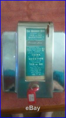 Vintage THE ANSWER BOX Napkin/Menu Holder Diner Fortune Teller Swami / WORKING