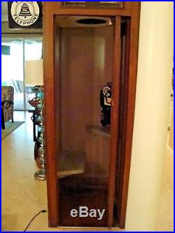 Vintage Telephone Booth. Working Phone, Light, Fan And Has A Seat. Stand-alone
