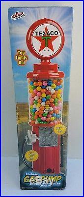 Vintage Texaco Gumball Machine Gas Pump Bank Stand Gum Ball Bubblegum New in Box