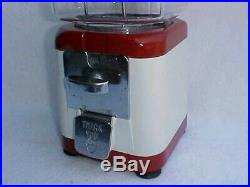 Vintage Tom's Peanut 1 Cent Acorn, Oak Gumball / Peanut Machine, Lance Jar