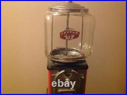 Vintage Topper Penny Bubble Gum Machine With Stand