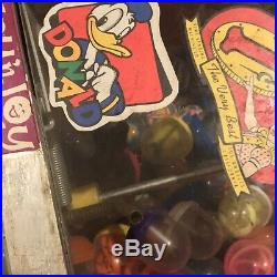 Vintage Toy N Joy 1 Cent Donald Duck Gumball Candy Vending Machine with Key WORKS