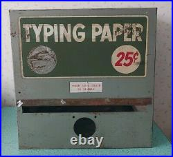 Vintage Typing Paper Vending Machine Incomplete Parts Shell Only