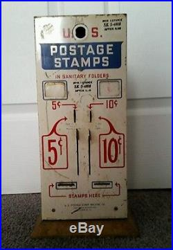 Vintage US Mail USPS Postage Stamp Vending Machine for 5 & 10 Cents with lock& key