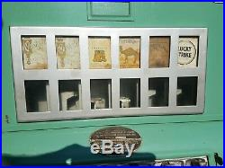 Vintage Uneeda Vending Cigarette Machine Candy Coin Operated