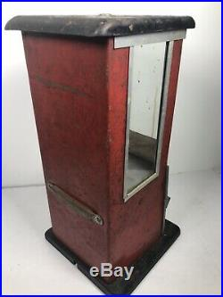 Vintage Unrestored 1923 Red & Black Masters Gumball Machine NO KEY
