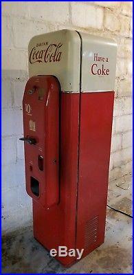 Vintage Unrestored Vendo 44 Coke Machine, Gets Cold! +BONUS original bottles