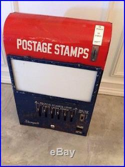Vintage Us Postal Postage Stamp Vending Machine 25 Cent Quarter Dispenser