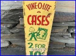 Vintage VENDING MACHINE vine-o-lite original Art Deco look rare NICE