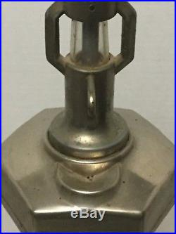 Vintage Van-lite penny machine lighter fluid despenser gas pump