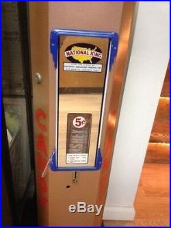 Vintage Vending Candy Machine National King 5¢ Vending Machine