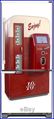 Vintage Vending Machine Magnet Refrigerator Appliance Cover Skin Panel