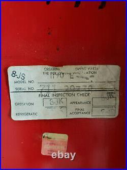 Vintage Vendo 1960's Coca-Cola Vending Machine with working refrigeration