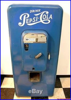 Vintage Vendo 88 Embossed Pepsi Cola Machine Soda Vending Pop VMC Coin Operated
