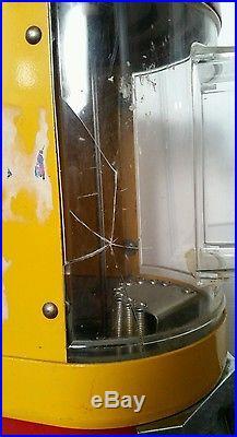Vintage Vendorama-25 Cent. Vending Machine-dispenser Gum/peanut-yellow Red