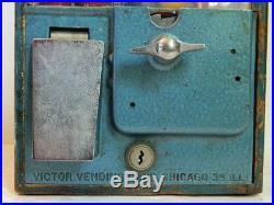 Vintage Victor Jumbo 1 Cent Gumball Vending Machine, Great Elephant Graphics